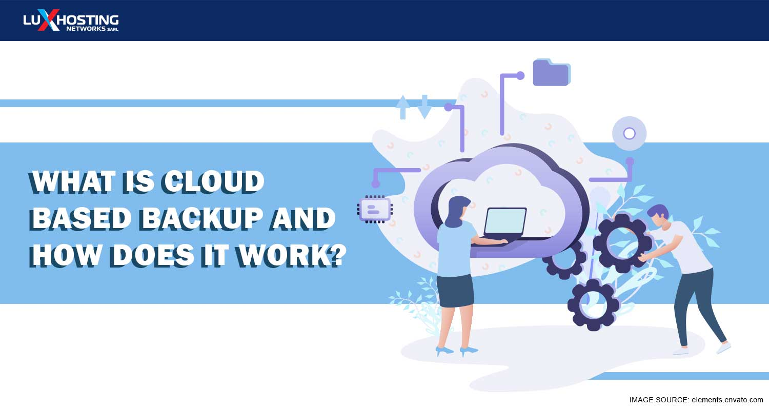 What is web based backup and how does it work?